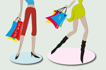 abbildung: shopping girls