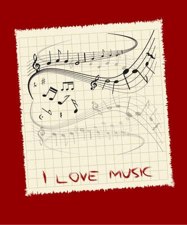 나는 음악을 사랑 일러스트