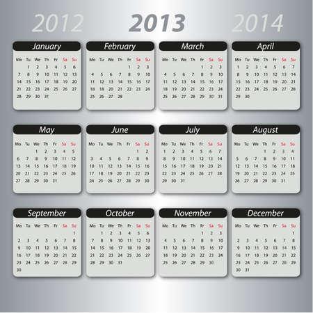 jahreswechsel: Calendar 2013, english