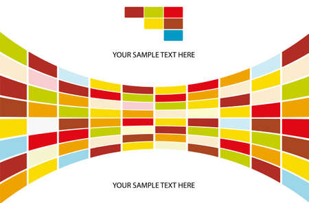 Hintergrund bestehend aus farbigen Rechtecken Stock Vector - 14334524