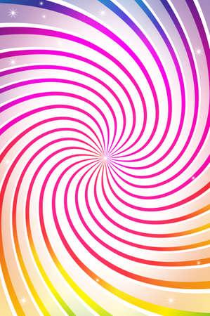 farbenfroher spiralf�rmiger Hintergrund Stock Vector - 14334525