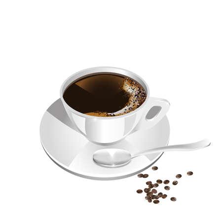 schwarz: Tasse Kaffee