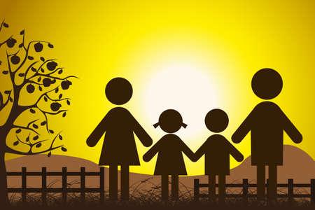 kunst: glückliche Familie