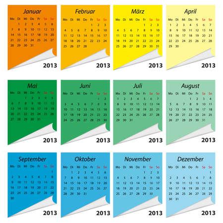 Illustration - Kalender 2013 Stock Vector - 13022925