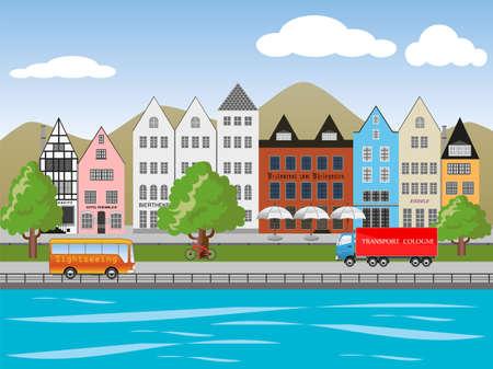abbildung: Altstadt Illustration