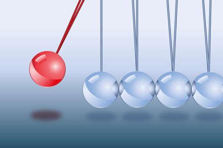Newtons metall balls Illustration