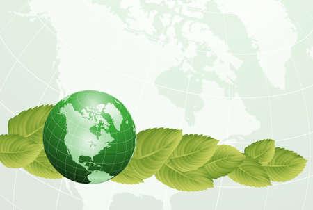 green planet Stock Vector - 13351932