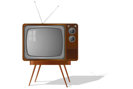 retro TV isolated Stock Vector - 13450429