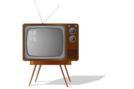retro TV isolated Stock Vector - 13450429