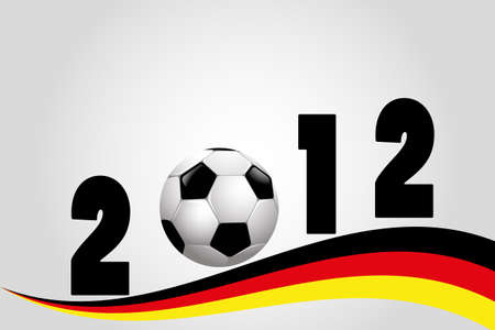 Fußball 2012 Illustration