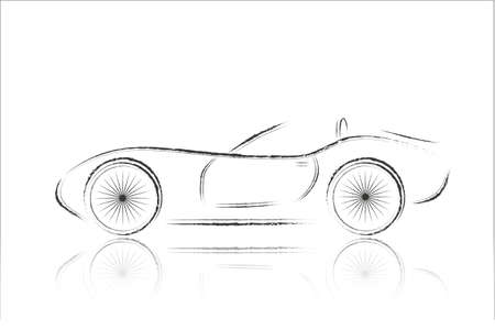 autos: racing car Illustration