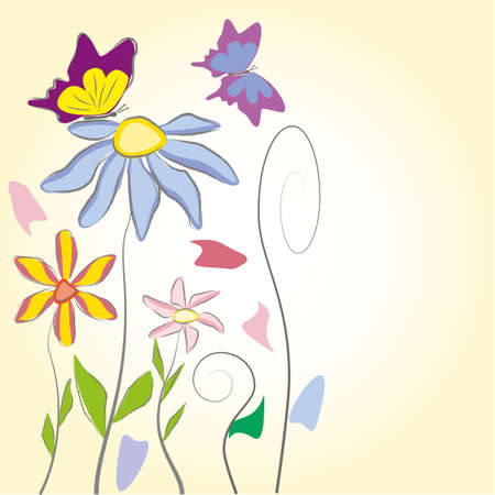 abbildung: Floral Background Illustration