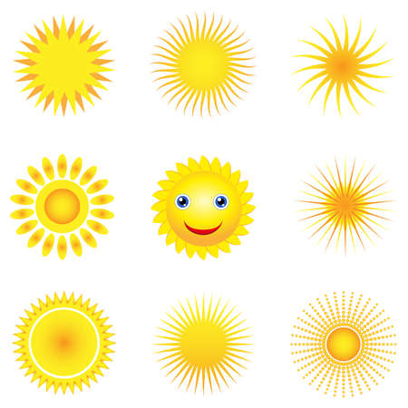 sun vector icons Stock Vector - 13906299