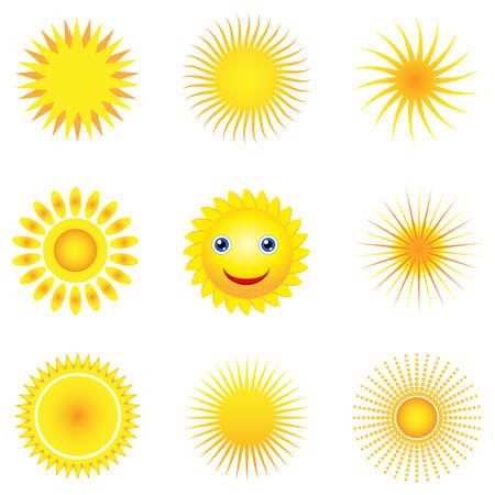 sun vector icons Stock Vector - 13906299