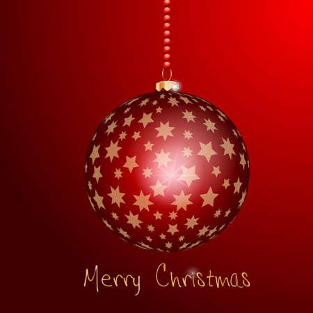 Weihnachtsbaumkugel mit goldenen Sternen