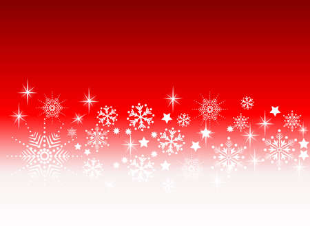 rotting: Hintergrund für Weihnachtskarte mit Schneeflocken Illustration