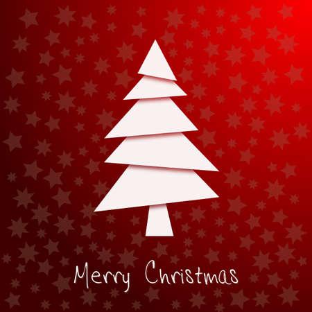 rotting: abstrakter Weihnachtsbaum in weiß