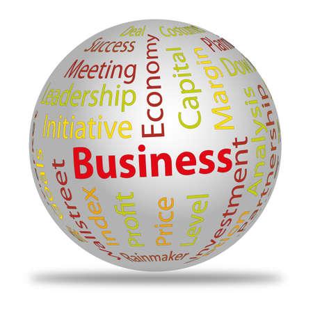 kugel: Business words Illustration