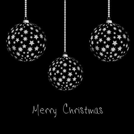 Black and white Christmas bulbs Stock Vector - 16335902