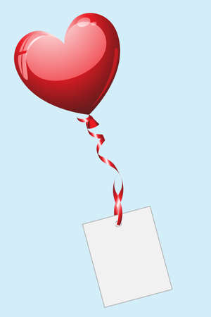 Heart shaped ballon with letter Illustration