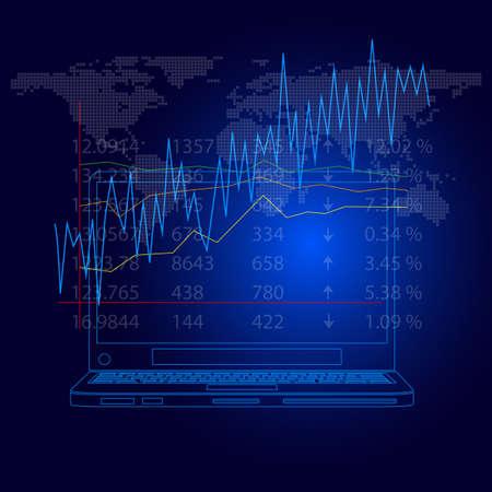 stock market graph Vector