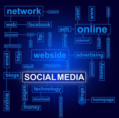 social media Stock Vector - 16909986
