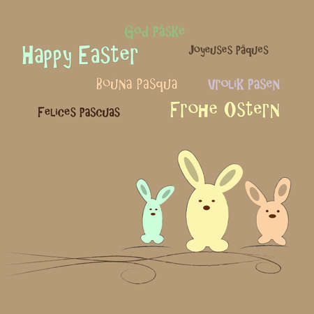 christian festival: happy easter Illustration