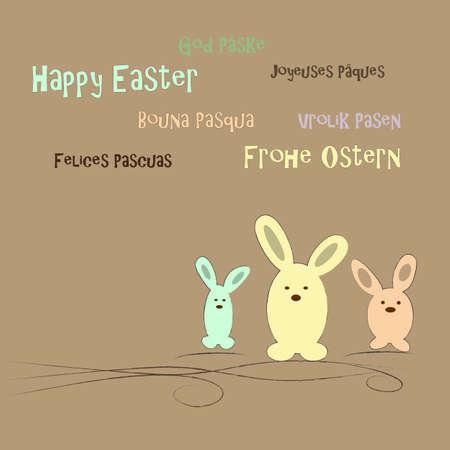 silhouette lapin: Joyeuses Pâques