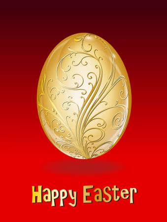 golden easter egg Stock Vector - 17163702