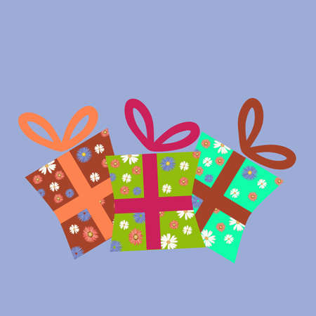 gift box on blue background Vector