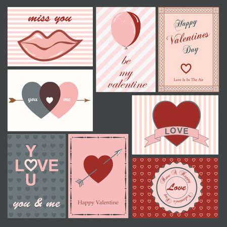 여덟 빈티지 발렌타인 카드의 설정
