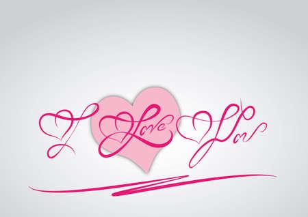 I love you  hand lettering - handmade calligraphy Stok Fotoğraf - 17684991