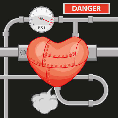 pressure: high blood pressure Illustration