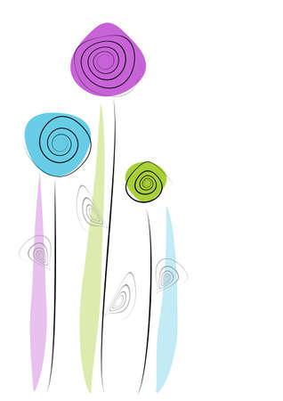 abstract floral background Ilustracja