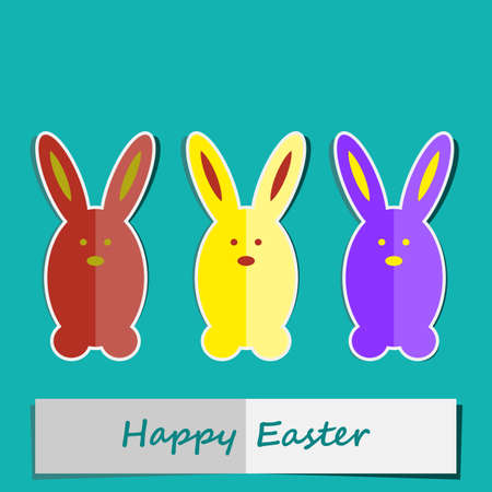 happy easter card Stock Vector - 18224485