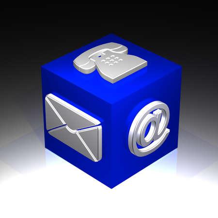 contact cube Zdjęcie Seryjne