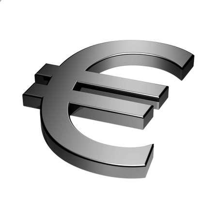 euro symbol - 3D image