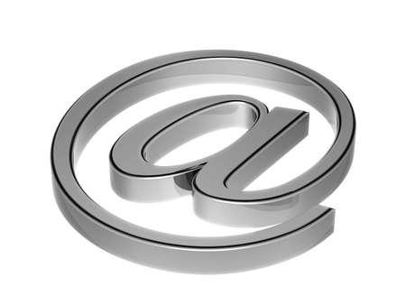 e-mail symbol - 3D image Stock Photo