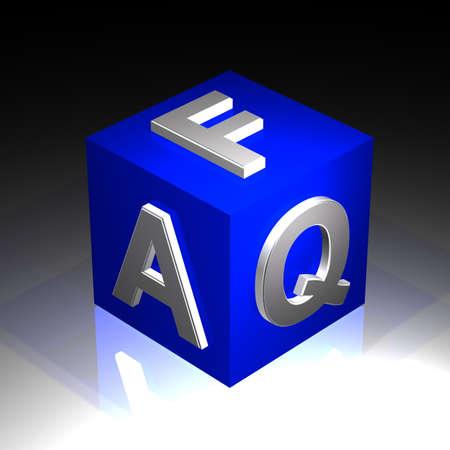 faq - cube Stock Photo - 18672211