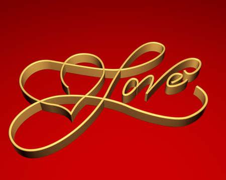 love card - Three-dimensional Shape Stock Photo