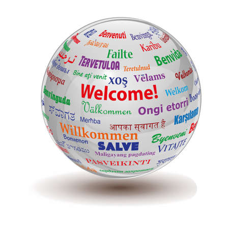 welcome sign: welcome sphere