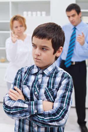 bad behavior: Parents punishing their son