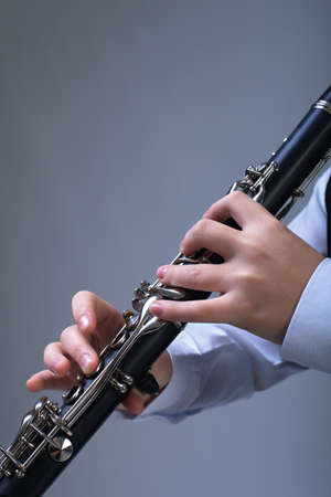 Clarinet player Stock Photo