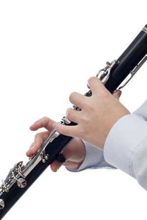 Clarinet player - isolated