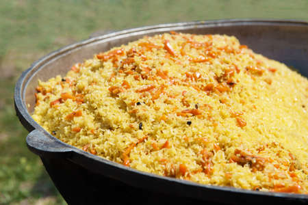 Pilau  East dish by closeup  Holiday of spring Stock Photo - 13495330