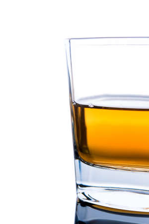 glass of cognac on a white background Stock Photo - 13618060