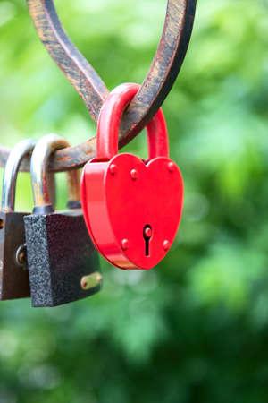 love forever - padlocks on the bridge Stock Photo
