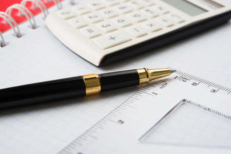 taxes budgeting: Concept of business on white background