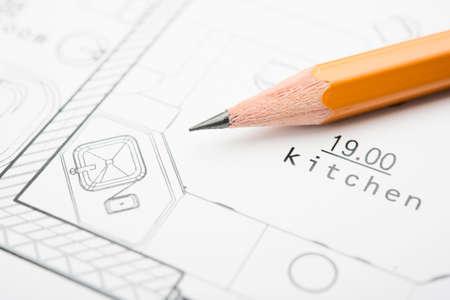 건물에 대한 기술 문서의 개발 스톡 콘텐츠
