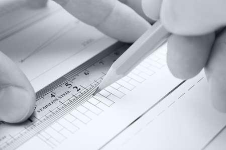 architector: architect in process Stock Photo